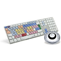 Logic Keyboard Apple ultra-thin Aluminium keyboard for Avid Media Composer Apple M89 Pro Line - English UK (LOG-LKBMCOM4M89UK)