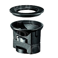 Manfrotto 325N (325-N) Bowl Adaptor - adapter kit to connect a 75mm or 100mm half bowl video head to a flat base tripod