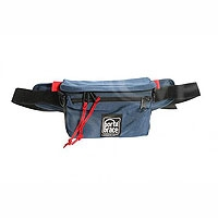 Portabrace HIP-1 (HIP1) Hip Pack for small microphones, batteries, tapes and tools - small (internal dimensions: 17.78 x 5.08 x 12.70 cm) (blue)