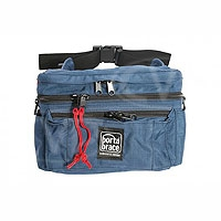 Portabrace HIP-4 (HIP4) Hip Pack for cameras, lens adapters, lens caps, radio microphones - extra large  (internal dimensions: 35.56 x 10.16 x 16.51 cm) (blue)
