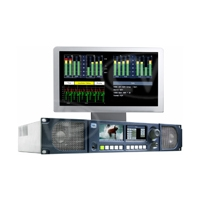 TSL PAM2-3G16 MK2 (PAM23G16MK2) 2RU Precision Audio Monitoring Unit with 2 x OLED Displays for 16 Channel Audio Monitoring, Metadata, Setup Menus and Video Confidence Monitor