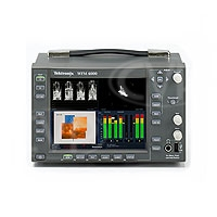 Tektronix WFM4000 (WFM-4000) SD-SDI Waveform Monitor with two passive loopthrough video inputs inputs, one AES/EBU audio input and 16 channels of embedded audio support