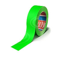 CVP Fabric Backed Self-Adhesive Fluorescent Gaffer Tape - Green - 50mm width x 25m length