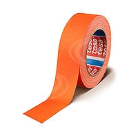 CVP Fabric Backed Self-Adhesive Fluorescent Gaffer Tape - Orange - 50mm width x 25m length