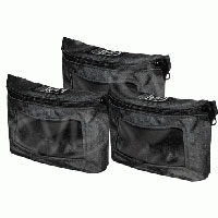 Portabrace CC-ACCVP (CCACCVP) Modified CP Accessory Pouch with Clear Vinyl Windows (Set of 3)
