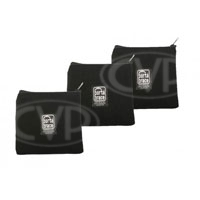 Portabrace PB-B63 (PBB63) 6x6-inch Zippered Padded Pouches - Set of 3