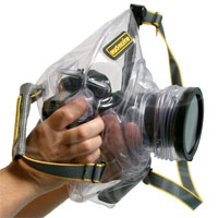 Ewa-Marine U-BFZ (UBFZ) Underwater SLR Camera Housing - for large bodied SLR (Canon EOS 1, Nikon D2, D3) with glove for hand to control camera functions - for longer lenses, no flash