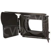Movcam 301-0206 (3010206) MM-102 Matte Box Kit includes 4x5.65 inch Filter Frames (x2), 15mm Rod Clamp and Carbon Fibre Sunshade