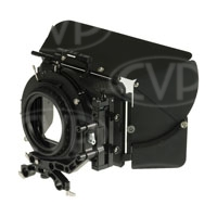 Movcam 301-0205 (3010205) MM-5 Matte Box Kit includes 5.65x5.65 inch Filter Frames (x3), Bellows Ring and Carbon Fibre Sunshade