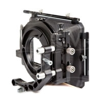Movcam 301-0201 (3010201) MM-1 Matte Box Kit includes 4x5.65 inch Filter Frames (x2), Bellows Ring and Carbon Fibre Sunshade