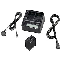 Sony ACC-V1BPA (ACCV1BPA) Battery Pack Kit includes AC-VQV10 Dual Charger / AC Adaptor & NP-FV100 High Capacity InfoLITHIUM Battery