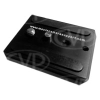 Movie Camera Support MCS-C009 (MCSC009) Mini Camera Wedge Plate- for Sachtler video fluid heads