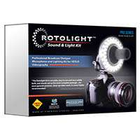 Rotolight (RL48-SL-KIT) Sound and Light Kit for DSLR - Includes Roto-Mic, RL48, Accessory Belt Pouch, Rotolight Stand and Calibration Filters