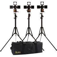 Ikan iLED6-KIT (iLED6KIT) iLED6 3-Point Light Kit with 3x iLED6 Lights, Stands and a Bag