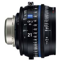 Zeiss CP.3 XD 21mm T/2.9 Compact Prime Cine Lens - PL Mount | Available in Feet or Metre Scale (2183-055 / 2183-050)
