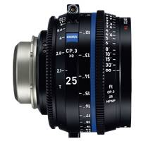 Zeiss CP.3 XD 25mm T/2.1 Compact Prime Cine Lens - PL Mount | Available in Feet or Metre Scale (2181-383 / 2181-378)