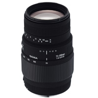 Sigma (509927) 70-300mm f/4-5.6 DG Macro Telephoto Zoom Lens for Canon EOS DSLRs