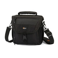 Lowepro Nova 170 AW Shoulder Bag - Black (internal dimensions: W: 21.5 cm x D: 11.5 cm x H: 20.5 cm)
