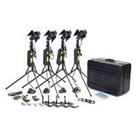 Dedolight KUK241R (KUK-241R) 150W Hard Case Kit includes 4 DLH4 Hard light heads with an in-car power adaptor