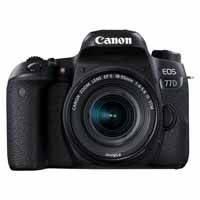 Canon EOS 77D 24.2 Megapixel Digital SLR Camera Body with EF-S 18-55mm f/4-5.6 IS STM Lens - Black (p/n 1892C021AA)
