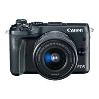 Canon EOS M6 24.2 Megapixel EF-M Mount Digital Camera with EF-M 15-45mm f3.5-6.3 IS STM Lens - Black (p/n 1724C046AA)