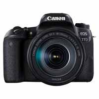 Canon EOS 77D 24.2 Megapixel Digital SLR Camera Body with EF-S 18-135mm f/3.5-5.6 IS USM Lens - Black (p/n 1892C023AA)