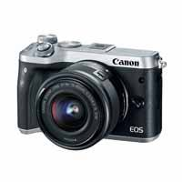 Canon EOS M6 24.2 Megapixel EF-M Mount Digital Camera with EF-M 15-45mm f3.5-6.3 IS STM Lens - Silver (p/n 1725C042AA)