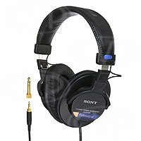 Sony MDR-7506/1 (MDR7506/1) Professional Headphone, closed back, 40mm diaphragm, 106dB sensitivity, 10Hz-20kHz,1000mW, 63 Ohm, 3,5mm and mini stereo jack
