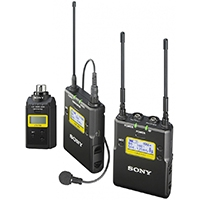 Sony UWP-D16/K33 (Radio Channel 33) Wireless Digital Audio Processing Microphone, Transmitter, Receiver and XLR Plug-On Transmitter Package
