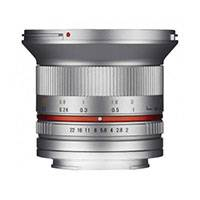 Samyang 12mm f2.0 NCS CS Lens for Micro Four Thirds - Silver (7779)