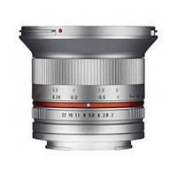 Samyang 12mm f2.0 NCS CS Silver Lens - Fuji X Mount (p/n 7775)