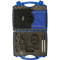 Portaprompt 365 Prompting Kit for Tablets Including: 15mm Bar Rig, Glass Frame, Folding Cloth Hood, Mounting Clamps, 2 x T10 Reflectors, cover and Carrying Case (p/n 365-001)