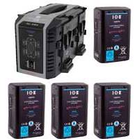 IDX EH-10/4Se (EH-104Se) 4x Endura E-HL10DS Li-Ion V-Mount Batteries and 1x VL-4Se Simultaneous Charger