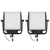 Litepanels Astra 6x Bi-Colour LED Light Duo V-Mount Kit with US and EU Power Supply (p/n 935-3201)