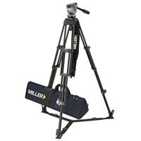 Miller 848 DS20 2-Stage Alloy System includes DS20 Fluid Head (184) Toggle 2-St Tripod (420) Ground Spreader (411) Pan Handle (680) Strap (554) Softcase (876)