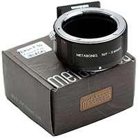 Metabones Nikon F to FUJI X-Mount Adapter in Black Matt (p/n MB_NF-X-BM1)