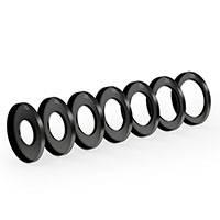 ARRI KK.0005751 (K0.60131.0) Still Lens Clamp on Kit Pro includes 7 clamp on rings for still photo lens threads 52, 58, 62, 67, 72, 77, 82mm