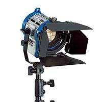 ARRI L3.79200.B (L379200B) Junior 300 Plus 300W Fresnel Lamphead (spotlight) c/w barn doors, in-line switch