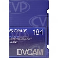 Sony PDV-184N (PDV184N) 184 minute DVCAM (standard cassette) black tape without memory IC