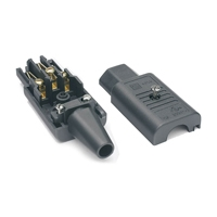 Canford 42-051 - Schurter AC Mains Power Connector, IEC Female, Cable (42-051)
