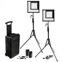 Westcott Flex Daylight 1 ft x 1 ft 2-Light Cine Travel Kit - 12V, 55W - Available in Daylight and Bi-Colour Versions