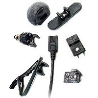Tram TR50 (TR-50) Lavalier Microphone Wired to 5-pin Binder Plug for TXP Transmitter - Black
