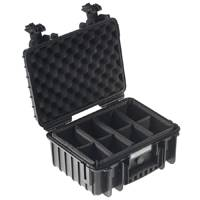 B&W Type3000 Dust and Waterproof Hard Case in Black with Padded Dividers (3000/B/RPD)