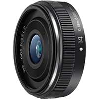 Panasonic 14mm f2.5 Lumix G II ASPH Lens (Choice of Black or Silver) - Micro Four Thirds Mount (p/n H-H014AE-K)