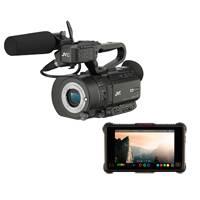 JVC GYLS300NJAIN1 (GYLS300-NJAIN1) GY-LS300CHE Camcorder, Atomos Ninja Inferno and Accessory Kit Bundle