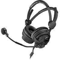 Sennheiser HMD 26-II-600-X3K1 (HMD26II600X3K1) Professional Broadcast, Closed Ear, Supra-Aural Headset with Dynamic Microphone (With Cable)