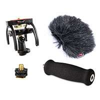 Rycote (046015) Tascam DR-40 - Audio Kit including windshield, suspension, shoe adapter and grip handle