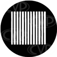 rosco 77508 (DHA 508) Slats gobo in M size (compatible with dedolight projection system)