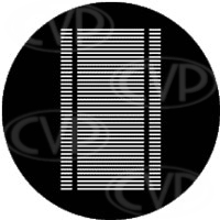 rosco 77702 (DHA 238-202) venetian blind (Jules Fisher) gobo in M size (compatible with dedolight projection system)