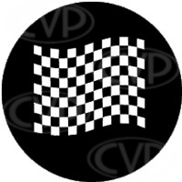 rosco 78051 (DHA 8051) Chequered Flag gobo in M size (compatible with dedolight projection system)